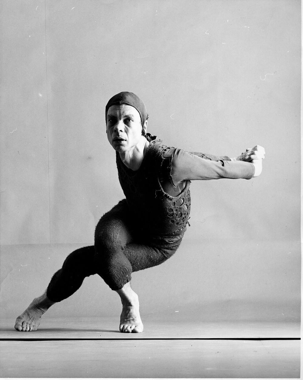 Merce Cunningham in Changeling, 1957 (studio photograph), photo by Richard Rutledge, courtesy the Merce Cunningham Trust