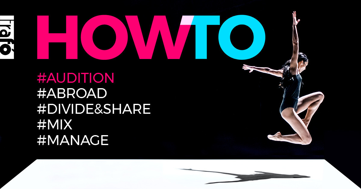 HOW TO? educational program series for dance artists vol.1 - AUDITION