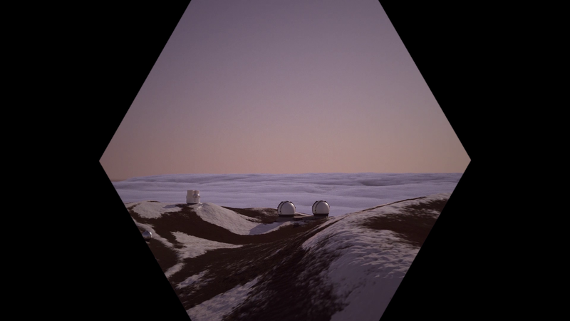 András Cséfalvay: Summit of Gods, 2019. Still from the two-channel video installation, 11'07""