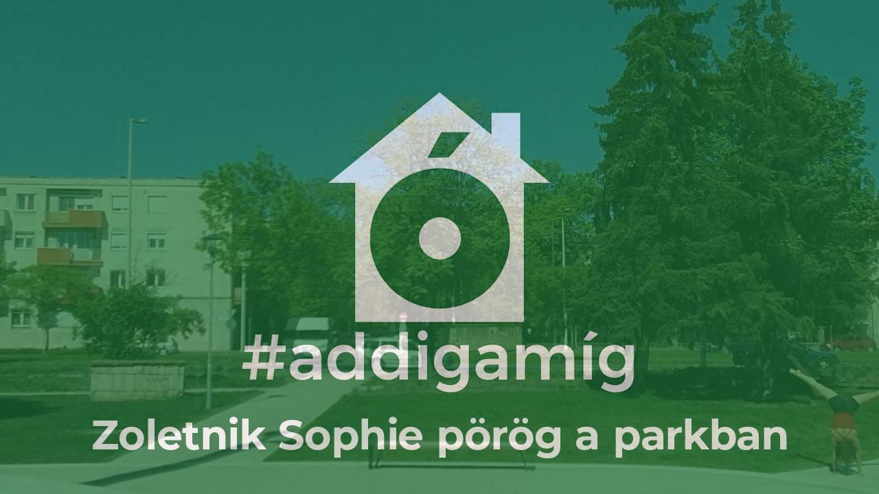 Zoletnik Sophie gyakorló térré alakította a lakást (is) #addigamíg / 5+1 kérdéses #maradjotthon interjú