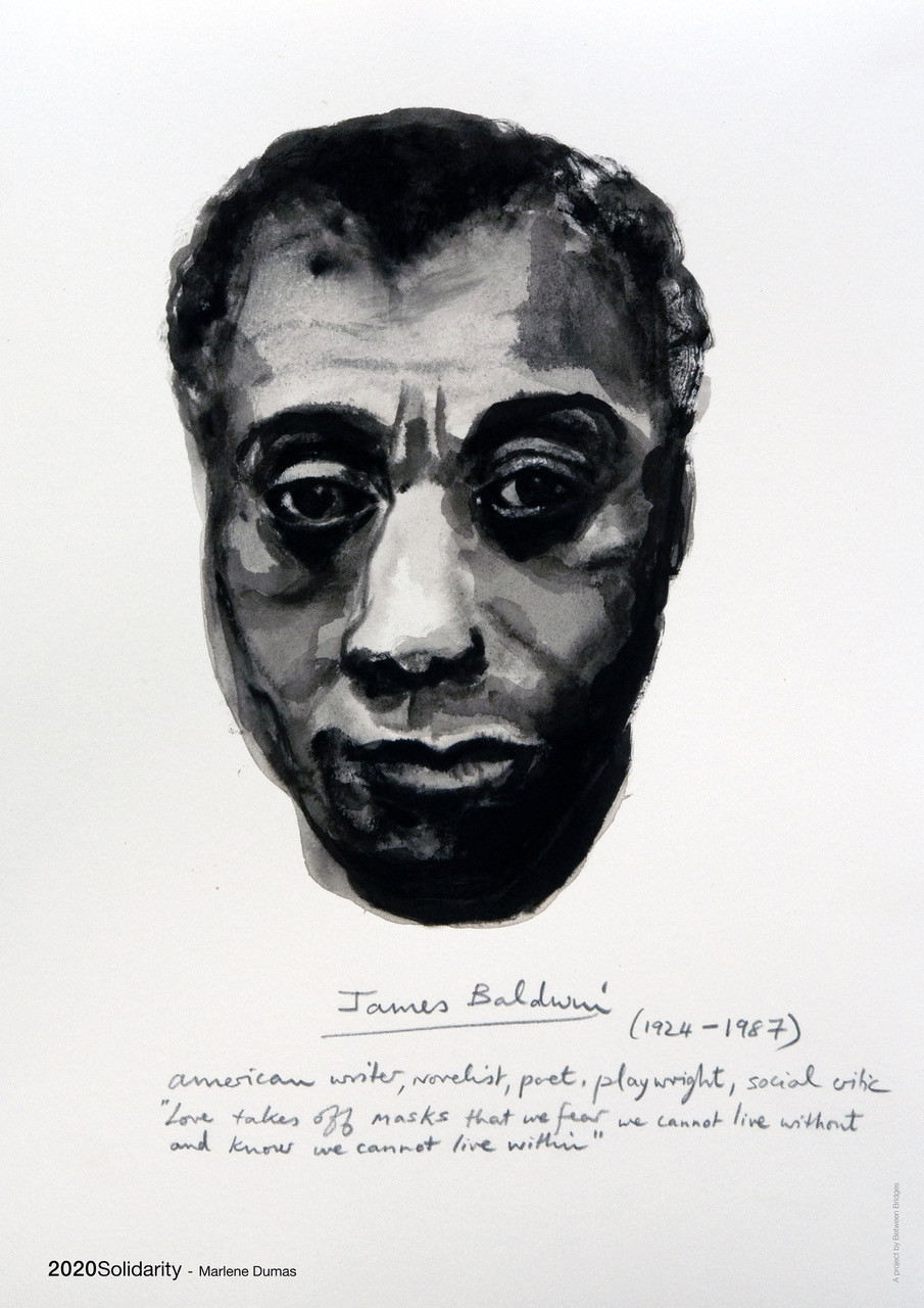 Marlene Dumas 'James Baldwin (from the series Great Men)' 2014 Offset print on paper 59,4 cm x 42 cm (23.4 x 16.5 in)