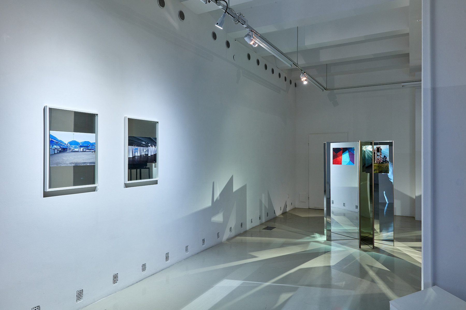 Exhibition view with the works of Andreas Fogarasi | photo: Dávid Biró